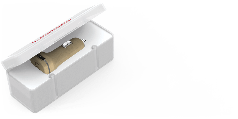 Woodie - Chargeur USB Voiture Personnalisable