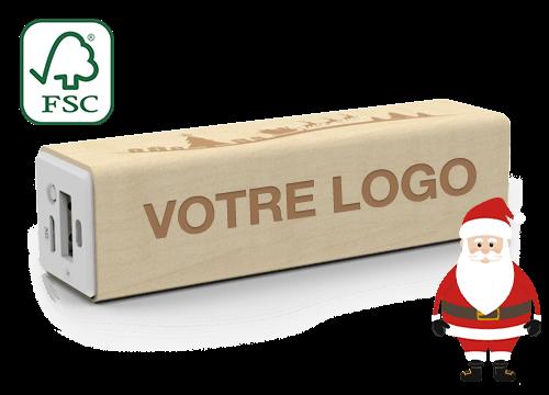 Maple Christmas - Powerbank Publicitaire