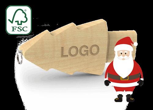 Christmas - Clés USB sapin personnalisables