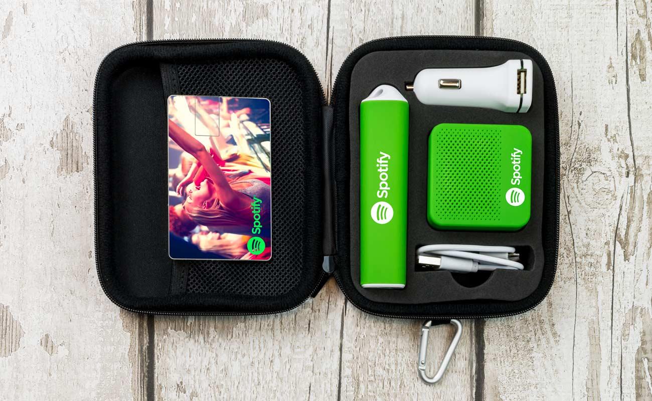 Impact L - Clé USB Personnalisée, Batterie Externe Personnalisable, Custom Car Charger et Enceinte Professionnel