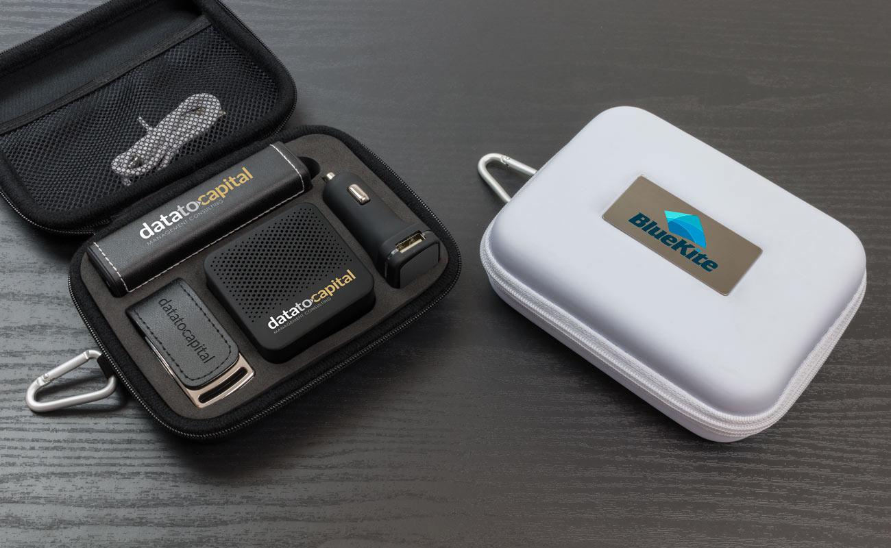 Leather L - Clé USB Personnalisée, Batterie Externe Personnalisable, Custom Car Charger et Enceinte Professionnel